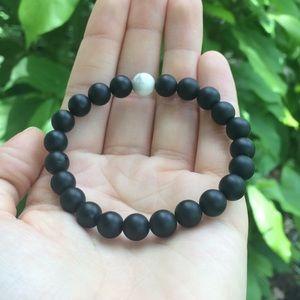 LOKAI Black & White Marble Bracelet